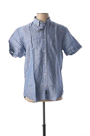 Chemise manches courtes bleu MC GREGOR pour homme