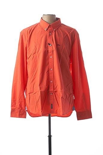 Chemise manches longues orange MC GREGOR pour homme