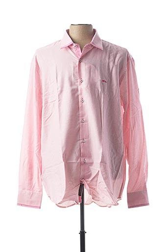 Chemise manches longues rose DARIO BELTRAN pour homme
