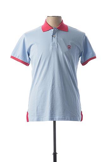 Polo manches courtes bleu ARISTOW pour homme