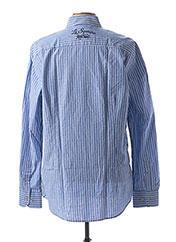 Chemise manches longues bleu LA SQUADRA pour homme seconde vue