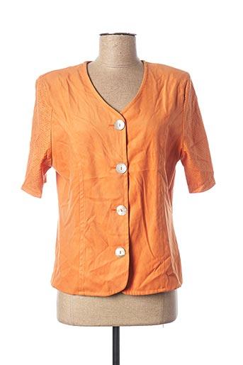 Veste casual orange UN POINT C EST TOUT pour femme