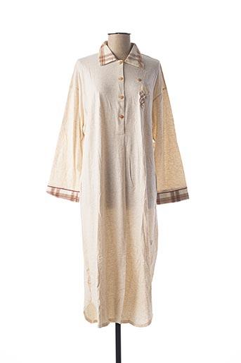 Chemise de nuit beige CANAT pour femme