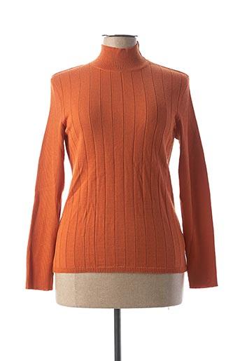 Pull col cheminée orange CÔTE NATURE pour femme