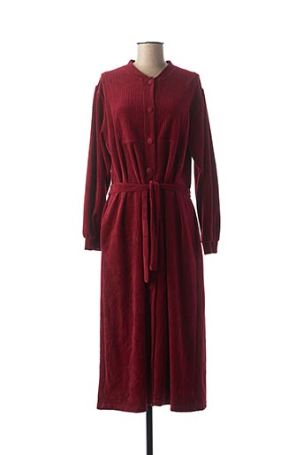 Robe de chambre rouge BLEU ROY pour femme