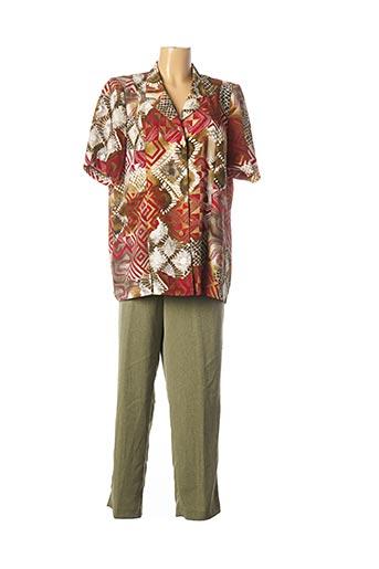 Veste/pantalon vert LISA CHESNAY pour femme