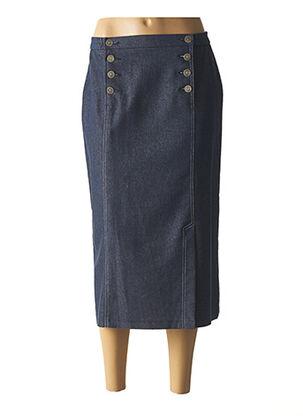Jupe mi-longue bleu KARTING pour femme