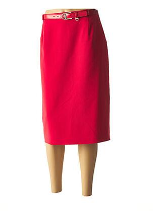 Jupe mi-longue rouge FE EDITION pour femme