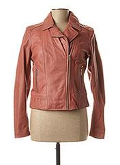 Veste en cuir rose ROSE GARDEN pour femme seconde vue