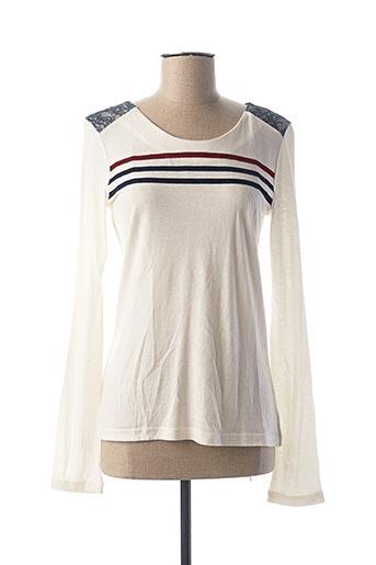 T-shirt manches longues blanc MAE MAHE pour femme