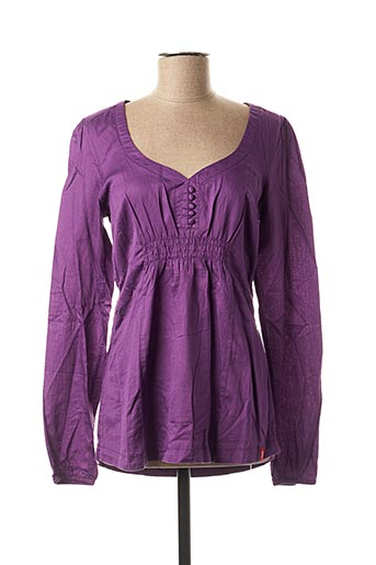 Blouse manches longues violet EDC BY ESPRIT pour femme