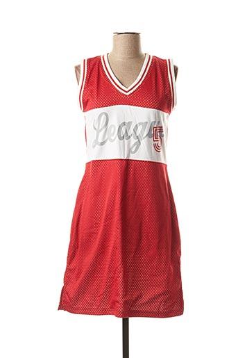 Robe mi-longue rouge TEDDY SMITH pour femme