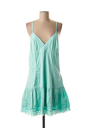 Robe mi-longue vert SCHOOL RAG pour femme