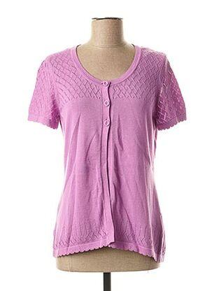 Gilet manches courtes violet ESPRIT pour femme