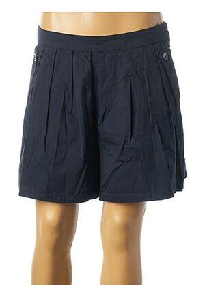 Jupe courte bleu ICHI pour femme