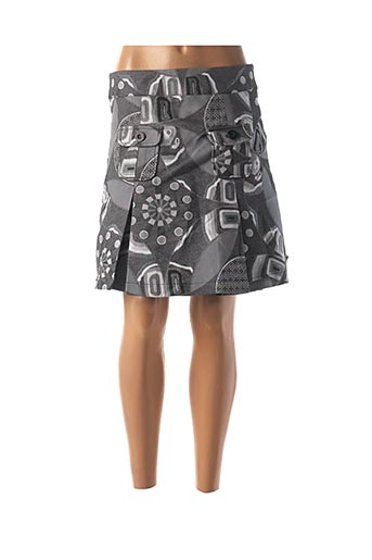 Jupe courte gris DESIGUAL pour femme