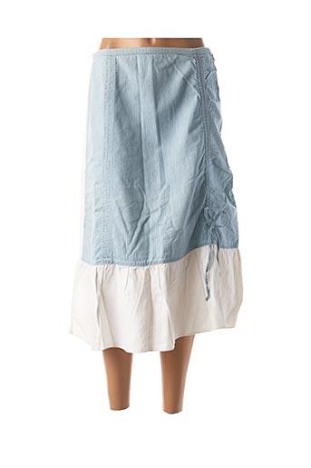 Jupe mi-longue bleu CHEYENNE pour femme
