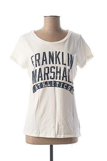 T-shirt manches courtes blanc FRANKLIN MARSHALL pour femme