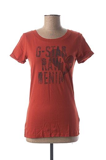 T-shirt manches courtes orange G STAR pour femme
