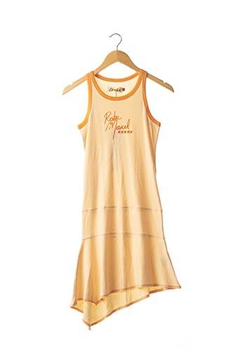 Robe mi-longue orange SCHOOL RAG pour femme