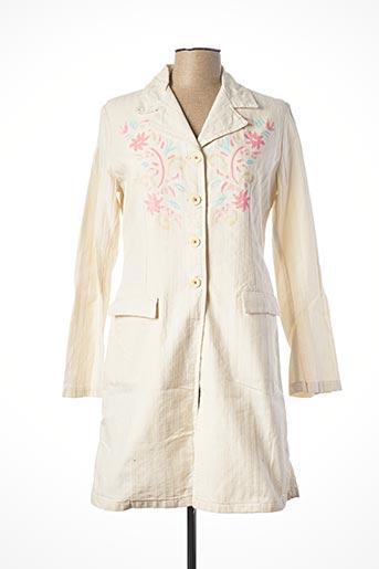 Robe courte beige SCHOOL RAG pour femme
