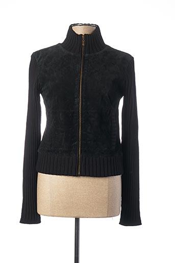 Veste en cuir noir TEDDY SMITH pour femme