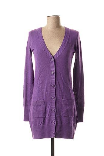 Gilet manches longues violet EDC BY ESPRIT pour femme