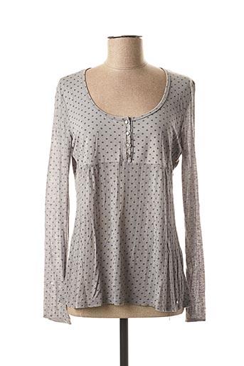 T-shirt manches longues gris DES PETITS HAUTS pour femme
