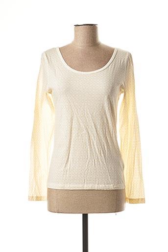 T-shirt manches longues jaune BLEND SHE pour femme