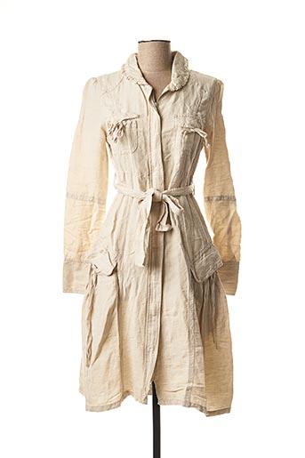 Robe mi-longue beige CHILLI PEPPER pour femme