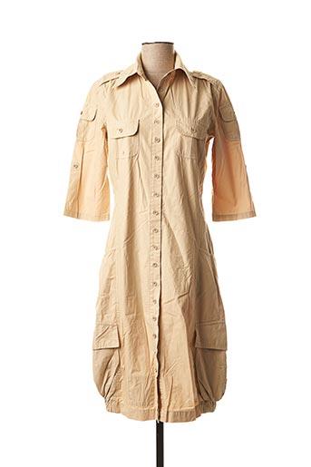 Robe mi-longue beige DESIGUAL pour femme