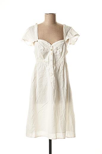 Robe mi-longue blanc HEL-S pour femme