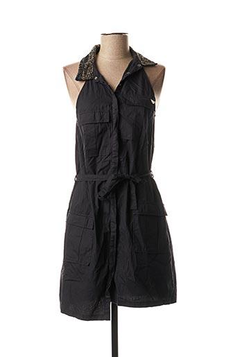 Robe mi-longue noir FREEMAN T.PORTER pour femme