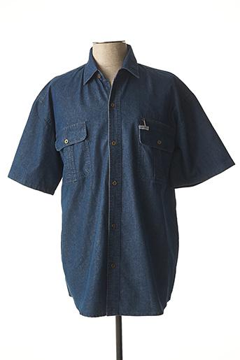 Chemise manches courtes bleu AMPARO pour homme