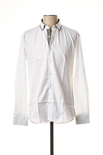 Chemise manches longues blanc BEN & BEN pour homme