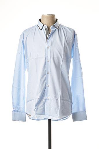 Chemise manches longues bleu BEN & BEN pour homme