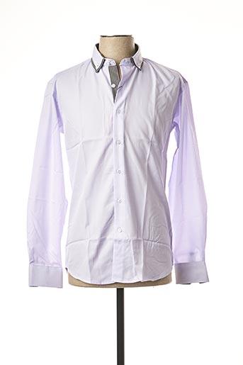 Chemise manches longues violet BEN & BEN pour homme