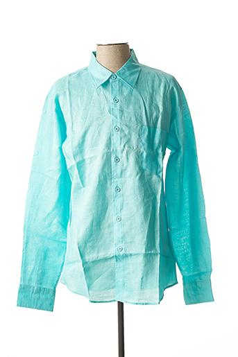 Chemise manches longues bleu CAMION BLUE pour homme