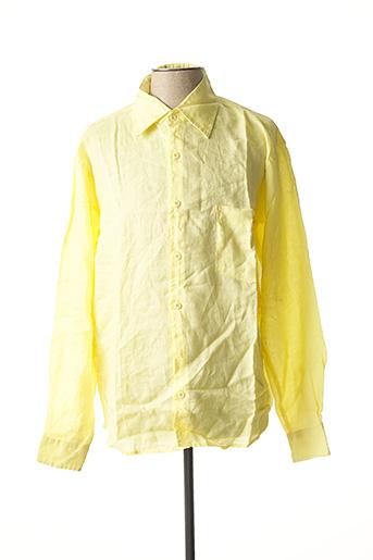 Chemise manches longues jaune CAMION BLUE pour homme