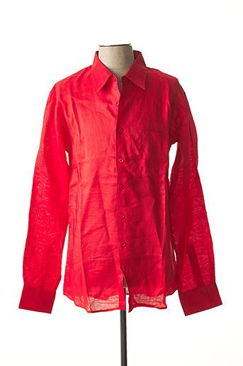 Chemise manches longues rouge CAMION BLUE pour homme
