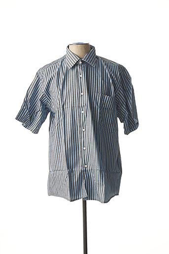Chemise manches courtes bleu ATTORE pour homme