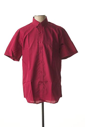Chemise manches courtes rouge AMPARO pour homme