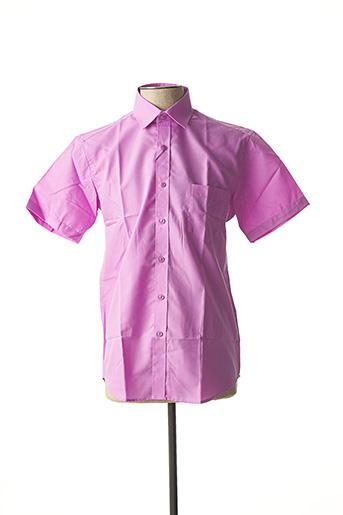 Chemise manches courtes violet AMPARO pour homme