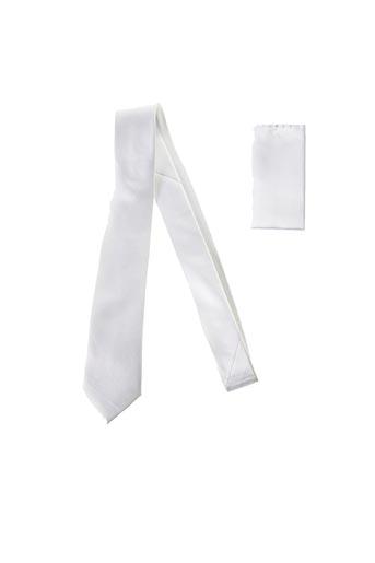 Cravate blanc CANOTTI COUTURE pour homme