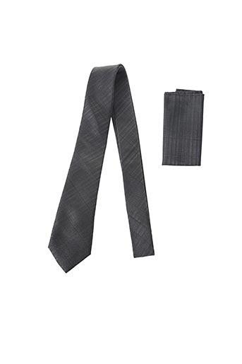 Cravate gris CANOTTI COUTURE pour homme