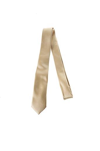 Cravate jaune CANOTTI COUTURE pour homme
