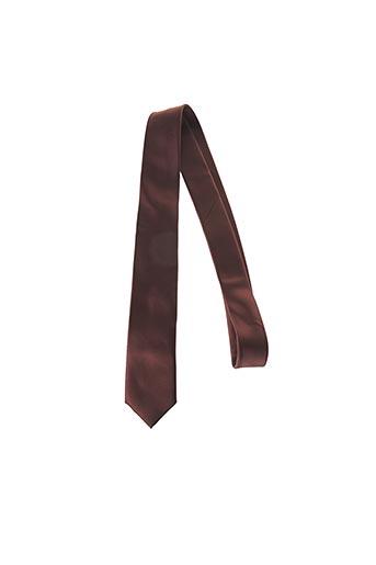 Cravate marron CANOTTI COUTURE pour homme