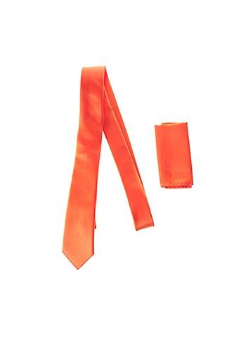 Cravate orange CANOTTI COUTURE pour homme