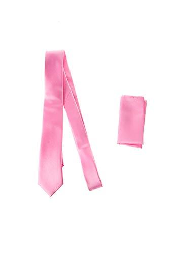 Cravate rose CANOTTI COUTURE pour homme