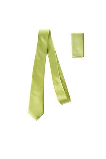 Cravate vert CANOTTI COUTURE pour homme